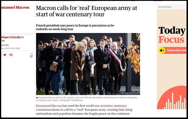 【緊急】「本物のヨーロッパ軍が必要」仏マクロン大統領が第三次世界大戦勃発をガチ確信か!米中露との全面核戦争目前、本気やばい!の画像1