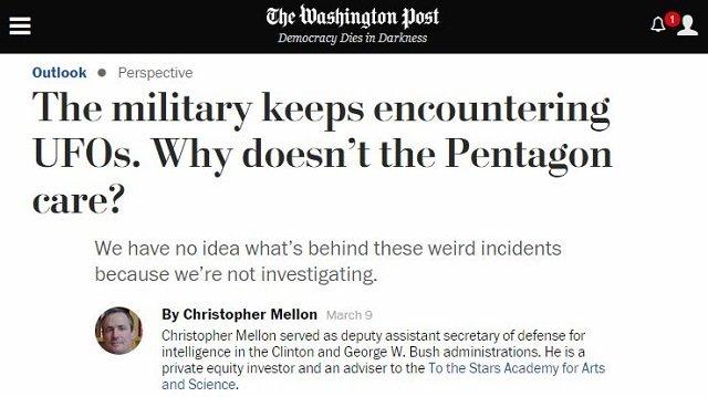 UFOとペンタゴンについて元クリントン&ブッシュ補佐官がガチ暴露「 国防省は12のUFOを把握」の画像1