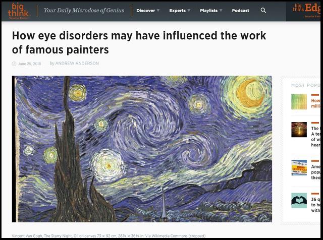 視覚異常を抱えながら名作を描いた画家3選! 違う世界が見えていたからこそ生まれた至高の芸術に打ちのめされる!の画像1