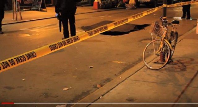 【衝撃動画】NYに出没した「顔なし男」のイケ顔が激撮される! 近隣で大事件も発生、スレンダーマンか?の画像2