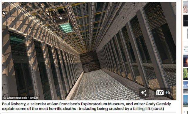 科学者が明かす「最も恐ろしい死に方」5選が本当にヤバい! エレベーター落下死から粒子直撃死までの画像1
