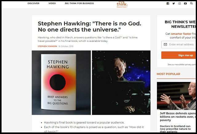 ホーキング博士が死の直前まで書いた全人類必読の最終回答とは?  神・宇宙人・DNA…人類史上最悪の過ちも警告!の画像1