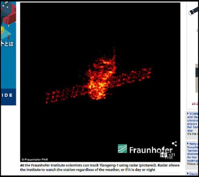 【超悲報】3月30日~4月2日、札幌に中国衛星「天宮1号」が落下する可能性がESA予測で判明! 猛毒物質が散る危険も!? の画像2