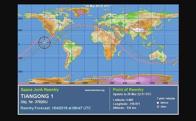 【超悲報】3月30日~4月2日、札幌に中国衛星「天宮1号」が落下する可能性がESA予測で判明! 猛毒物質が散る危険も!? の画像5
