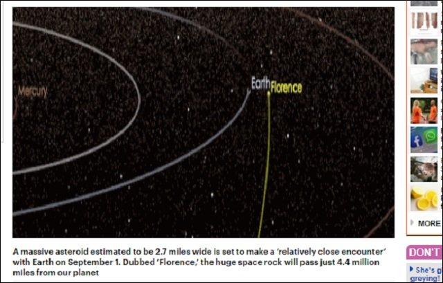 【ガチ】9月1日に巨大小惑星「フローレンス(ナイチンゲール)」が地球衝突で人類滅亡へ! 観測史上最も接近、NASA発表!の画像2
