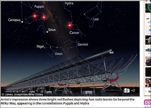 今度こそ宇宙人からのメッセージか?「高速電波バースト(FRB)」を再び観測、「遠くの銀河から発信された」=オーストラリアの画像1