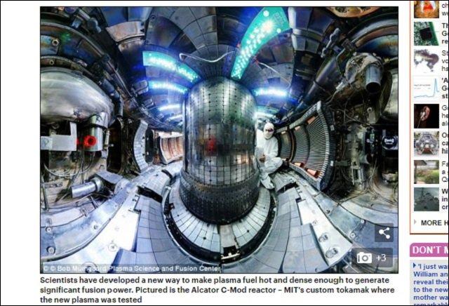 【革命】究極の無限クリーンエネルギー爆誕!! MITが小型太陽(核融合炉)の高温プラズマ加熱実験に成功!の画像2