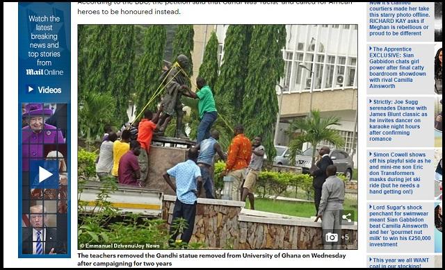 【緊急】ガンジーの強烈すぎる「人種差別発言」発覚でアフリカの大学が銅像を次々撤去!「黒人は未開人で…裸で…」の画像2
