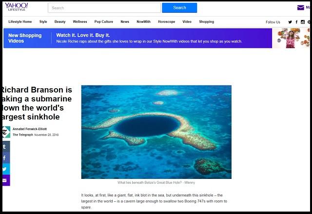 ヴァージン・グループ創設者ブランソン氏が宇宙人と接触へ!? ブルーホール海底調査を専門家危惧「接近すると誘拐されるぞ」の画像1