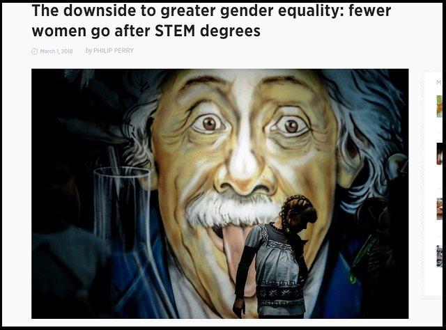 【驚愕】男女平等が理系女子を減らしていた!? 先進国より途上国の女性の方が数学・科学を勉強すると判明(ジェンダー平等パラドクス研究)の画像1