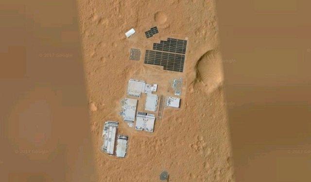 【驚愕】火星に正真正銘の人工施設が建造されていた!! グーグルマーズに超ガチで写り込む、元自衛官が緊急コメント の画像3