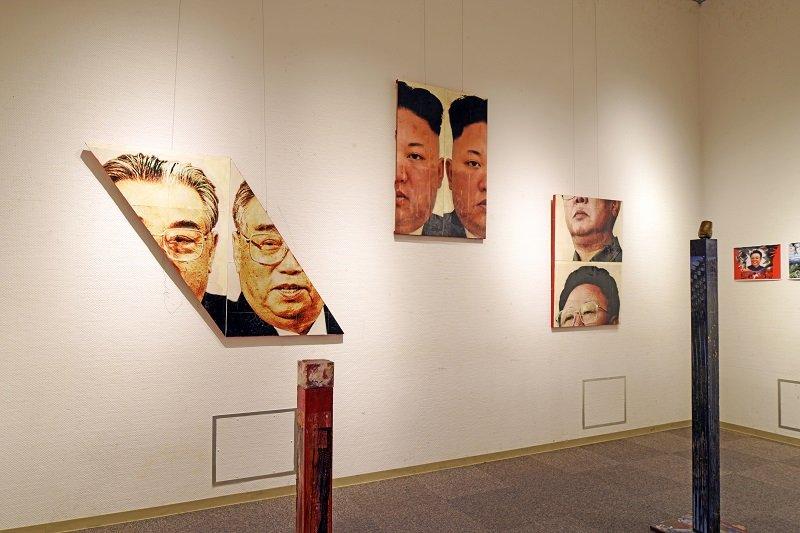 大北朝鮮帝国展「切断芸術」が首領様をぶった切る! 「1000年残るモニュメント」「芸術理論なんか糞食らえ!」(現代美術家・生須芳英)の画像1