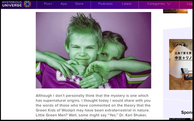 12世紀イギリスの昔話「グリーンチルドレン」に実話説が浮上! 学者「全身緑色の子どもは宇宙人、物質転送装置も…」の画像2