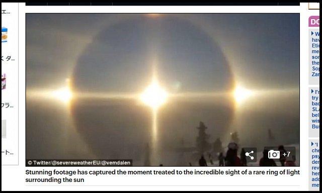 【動画】「これは天国の扉か、UFO母船か!」スキー場に美しすぎる天使の輪が降臨! 神秘的光景にスキーヤー棒立ち=スウェーデンの画像2