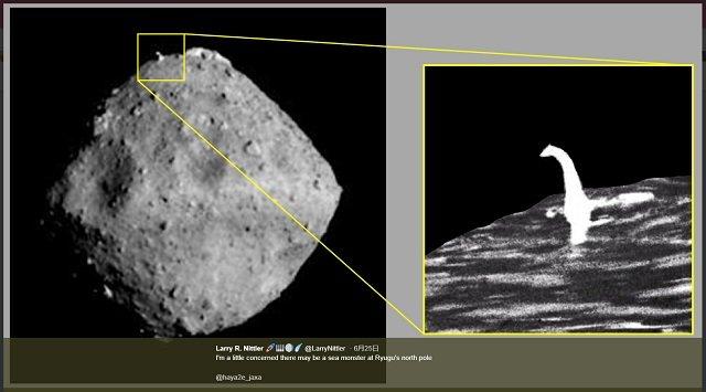 【はやぶさ2】小惑星「リュウグウ」にはネッシーが乗っている!? 決定的画像を発見、研究者が緊急コメント「JAXAは真実を…」の画像3