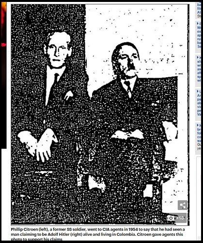 【ガチ】ヒトラーがコロンビアで生きていた証拠写真がCIA公式文書で発覚! ナチ残党と「ナチス村」を築き、長老総統と呼ばれていた!? の画像2