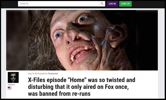 【閲覧注意】「X-ファイル」の最恐・放送禁止エピソード「ホーム」は実話だった! ベッドの下に四肢切断人間、兄弟で近親相姦…!の画像2