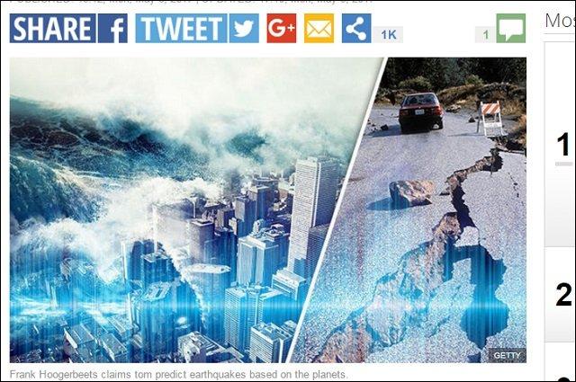 【緊急】「5月12日までにメガ地震(M7~8)発生」高的中率フッガービーツの予言! 環太平洋火山帯ピンチで日本列島も大打撃か!?の画像1