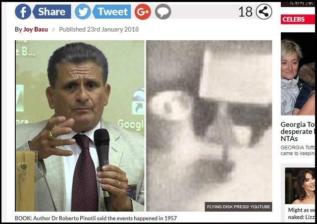 【世界初】UFO内部で撮影された宇宙人の顔写真が公開される! 地元民と20年間交流、外交官も目撃!=伊の画像1