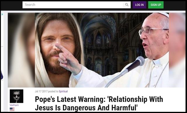 ローマ教皇の最新警告「イエスと関わることは危険でヤバい」! まさかの神離れ推奨…3万人の聴衆も唖然!の画像1