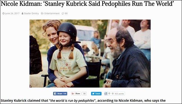 キューブリックの衝撃的遺言をニコール・キッドマンが暴露! 「ロリコン秘密結社が世界を動かしている」「突然死の真相は…」の画像1