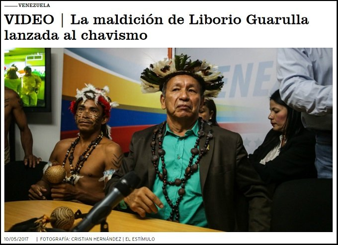 ベネズエラの州知事、復讐のため「ダブクリの呪い」を中央政府にかけたと正式発表! 頭には羽、首には黒い首飾りの画像1