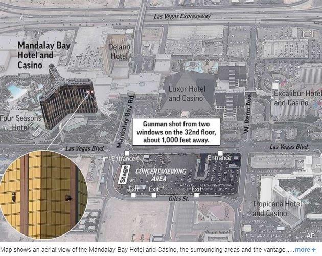 【ラスベガス銃乱射事件】証拠動画で深まる「複数犯説」!  異なる方向から2つの銃撃音、2キロ以上離れたホテルから銃撃光もの画像1