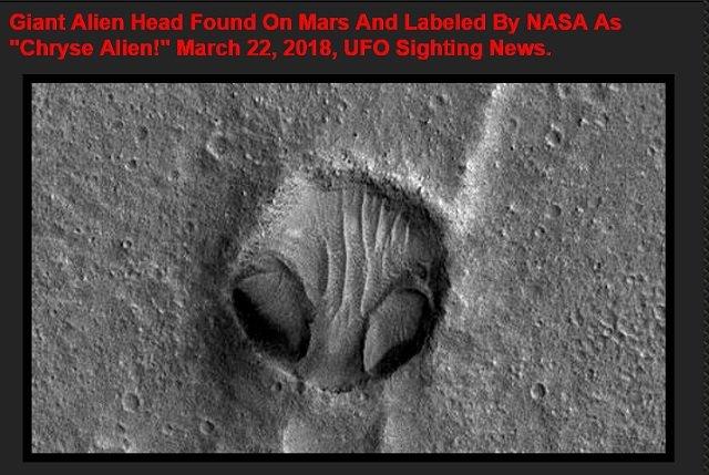 【衝撃】NASAが火星で「クリセ・エイリアンの顔」を激写! 100%宇宙人の姿…ナスカの地上絵とも関連か!の画像3