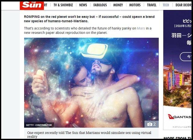 【悲報】「火星でSEXするとニュータイプの新人類が誕生する」論文発表! 巨頭の火星人誕生の可能性も!?の画像1