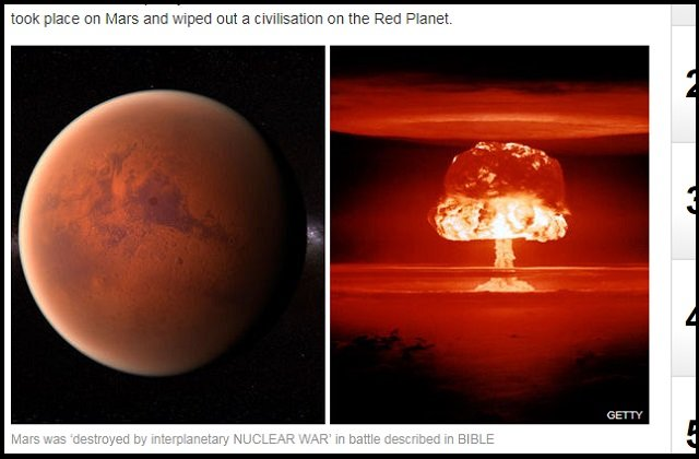 「火星は核戦争で荒廃した」聖書の記述で判明! マルデック星人との惑星間戦争が起こり、火星人は地球へ…!の画像1