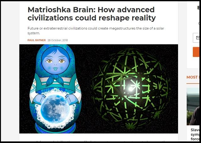 現実を生み出す「マトリョーシカ脳」とは? 宇宙人による建造物「ダイソン球」がヒント、この世の原理が判明!の画像1