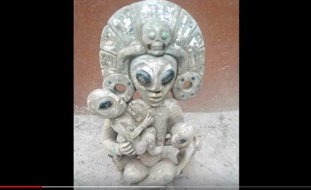 7000年前の「宇宙人の彫像」が発見される! 100%完璧グレイ、 日本の土偶とも類似…創造主か?=メキシコの画像2
