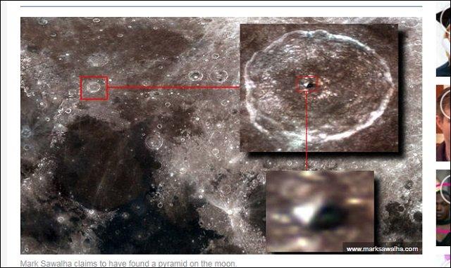 NASAが月の北部で「巨大ピラミッド」を激写! クレーター内部に宇宙人基地が存在か!?の画像2