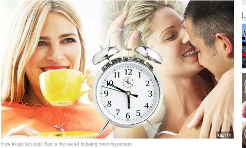 「朝方人間になるためにはモーニングセックスを推奨します」学者断言! 朝型人間になるための科学的な7つのステップの画像1