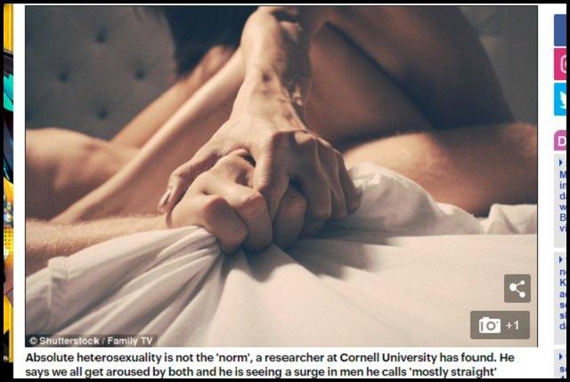 【衝撃】「人類は全員ゲイ、100%ストレートなんていない」ノンケ男が同性のオナニーで興奮することも判明(最新研究)の画像1