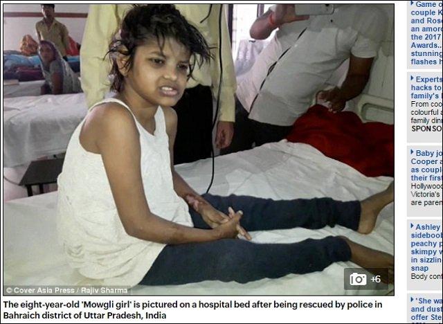 【動画アリ】森の中でサルに育てられた8歳少女が発見される! 金切り声を上げ4足歩行する姿が完全に野獣=インドの画像1