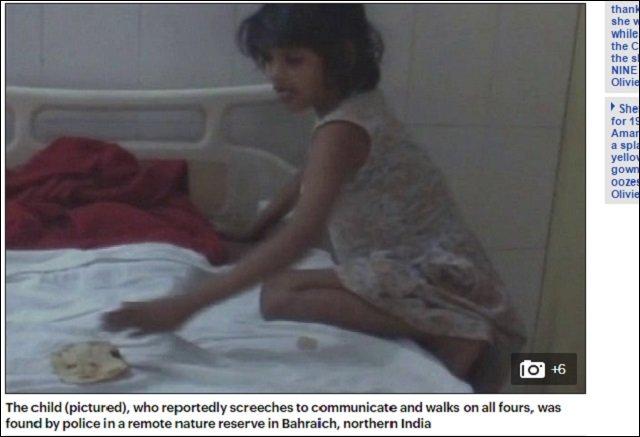 【動画アリ】森の中でサルに育てられた8歳少女が発見される! 金切り声を上げ4足歩行する姿が完全に野獣=インドの画像4
