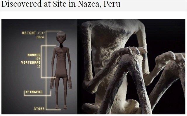 【画像】1700年前の首なし宇宙人ミイラが公開される! 研究者「エイリアンに間違いない」、伝説のリトルピープルの可能性も=ナスカの画像1