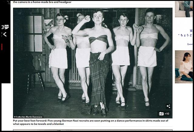 ナチスの女装写真がついに流出! ブラジャー、パンツ、セクシーポーズ…スカトロSM変態総統ヒトラーの命令か!?の画像2