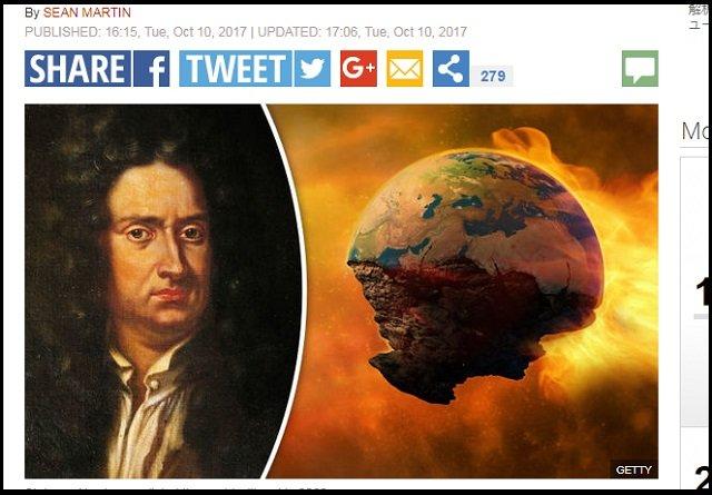 【悲報】当たりすぎる「ニュートンの終末予言」(全4500ページ)が衝撃的すぎる! 「2060年に世界滅亡し、神聖な霊感が…」の画像1