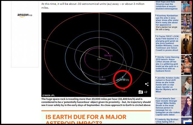 【緊急警告】8月29日にピラミッドサイズの巨大隕石「2016 NF23」が地球衝突の可能性! NASAも危惧、人類滅亡カウントダウンか!?の画像2