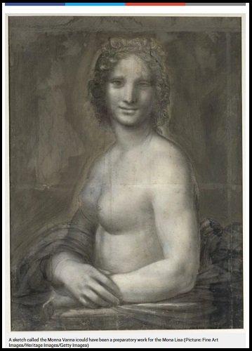 【ガチ】ダ・ヴィンチがモナ・リザのヌード版も描いていたことがほぼ確定! 乳首も肉感も超リアル!の画像2