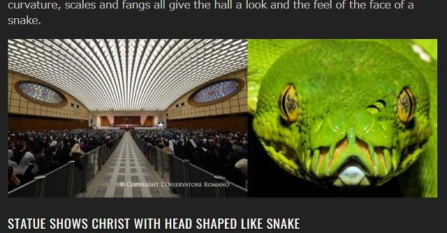 バチカン重要建造物に「レプティリアンの象徴」が多数隠されていたことが発覚! ヘビ顔のキリスト像に衝撃、イエスは全人類奴隷化のための使者だった!の画像3