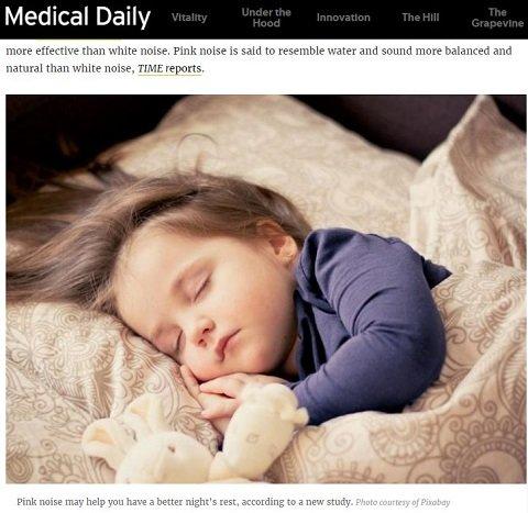 【音源アリ】眠りの質&記憶力が劇的アップ「ピンクノイズ」が超話題! 赤ん坊も泣きやむ!?の画像1