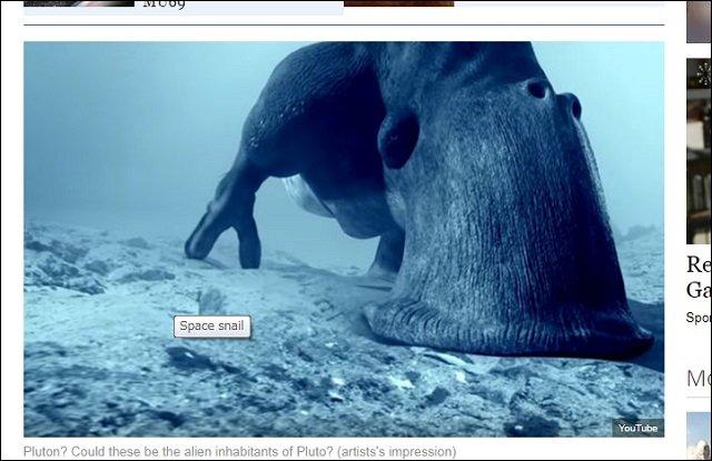 冥王星で「巨大カタツムリ」が激写される! 移動した痕跡もクッキリ、専門家も興奮「背中の殻や頭も写ってる!」の画像1