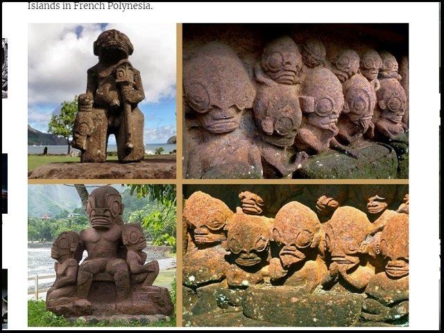 【証拠アリ】ポリネシアで宇宙人が崇拝されていた! グレイやレプティリアンに激似の石像多数、エイリアン神殿も!?の画像2