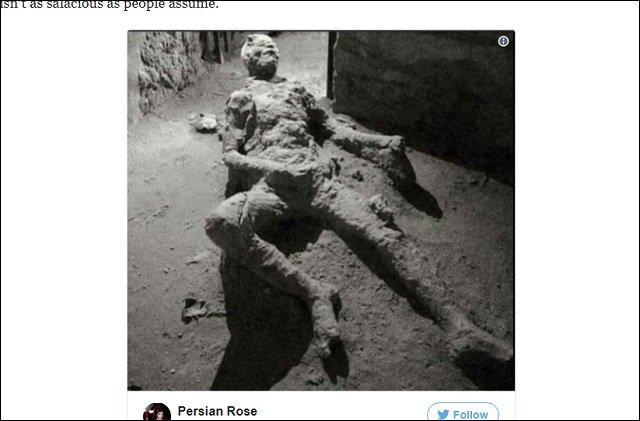 2千年前の火山噴火でオナニー中に死んだポンペイ市民の姿が超話題! 上体を反らし、恍惚の表情…「偉大な男だ」と賞賛の嵐!の画像2