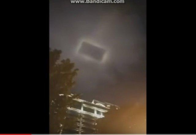 【衝撃】「天国への扉が開いた!」中国上空にスクエア型異次元ポータルが出現! 量子テレポーテーションの極秘実験か?の画像1