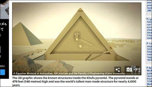 【ガチ】ギザの大ピラミッドの中に隠し部屋が存在、宇宙人の墓か!? 研究者「異常領域を検出」「世界初の成果」の画像2