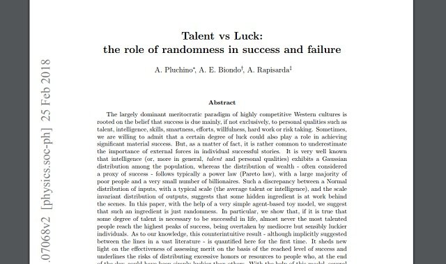 【朗報】金持ちは頭が良いわけではなく、ラッキーだっただけ! 成功に才能・努力は一切関係なし、数学で判明!の画像2